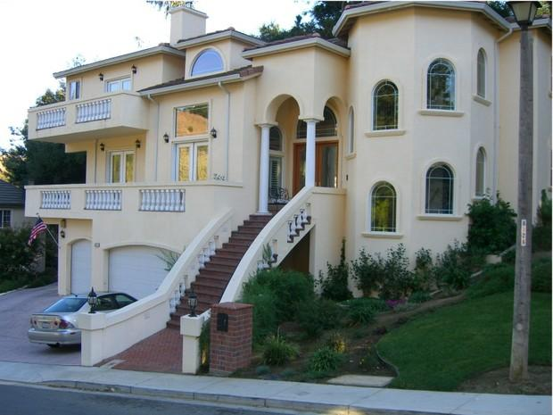 Southwestern home exterior in san francisco 3rd story for Grand home designs inc