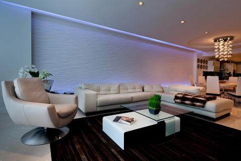 Amazing Add To Modern Family Room With Modern Style Family Room With A Textured  Accent Wall