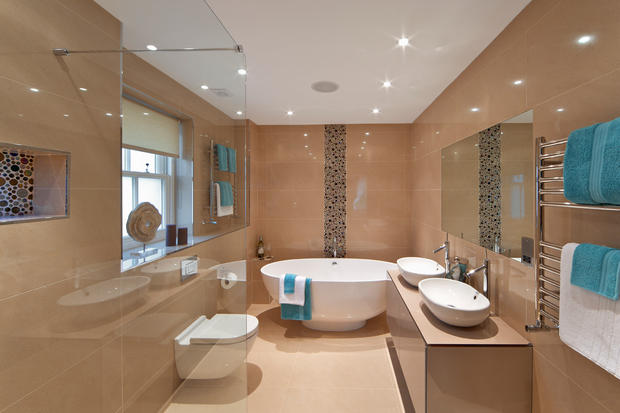 Contemporary Bathroom with contemporary high efficiency toilet