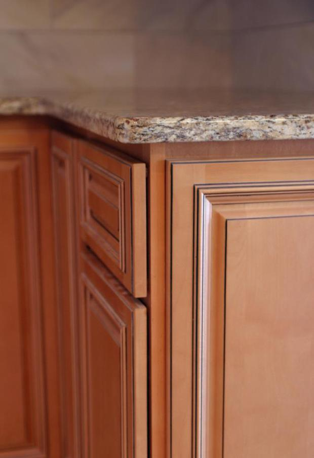 Transitional Kitchen In Clearwater Granite Counter Glazed Raised Panel Cabinets By Five
