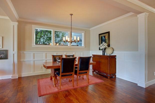 Transitional Dining Room In Seattle Black Leather Dinning Chairs Vase With