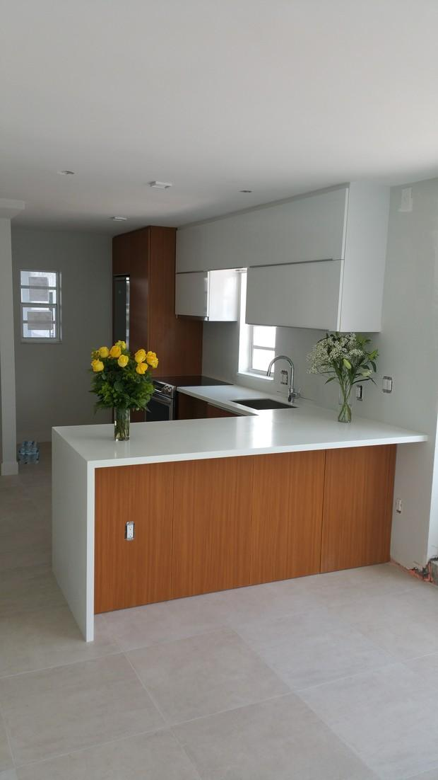 Contemporary kitchen in hialeah yellow roses peninsula for Kitchen cabinets hialeah