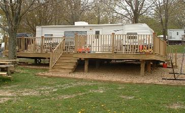 Permanent Campsite Deck Pictures And Photos