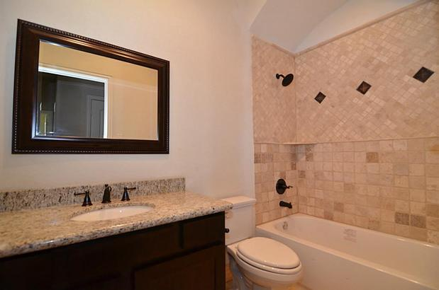 Transitional Bathroom In Scottsdale Oil Bronze Fixtures Custom Tile Tub Surround By Nfnt Llc