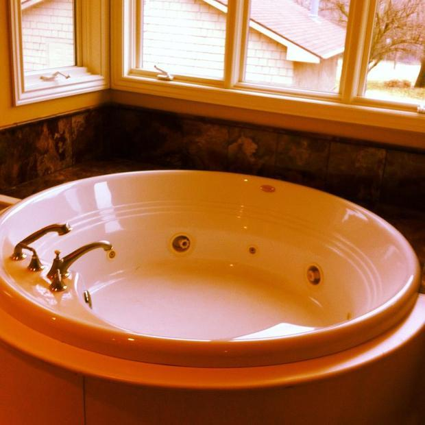 traditional bathroom in fort smith jetted tub large