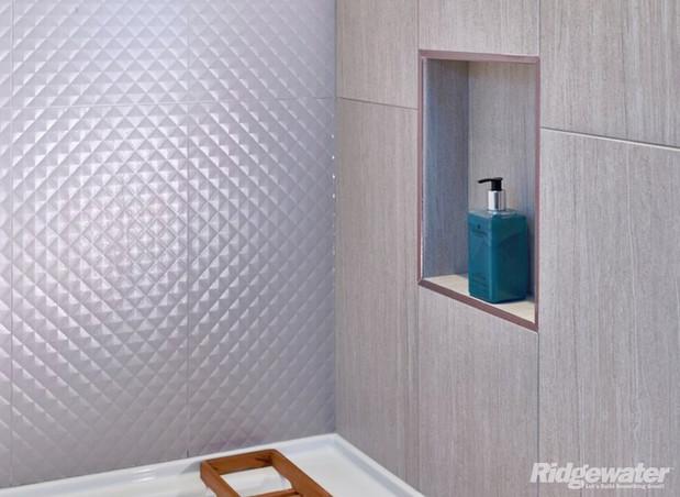 midcentury modern bathroom in delta  sandstone grain