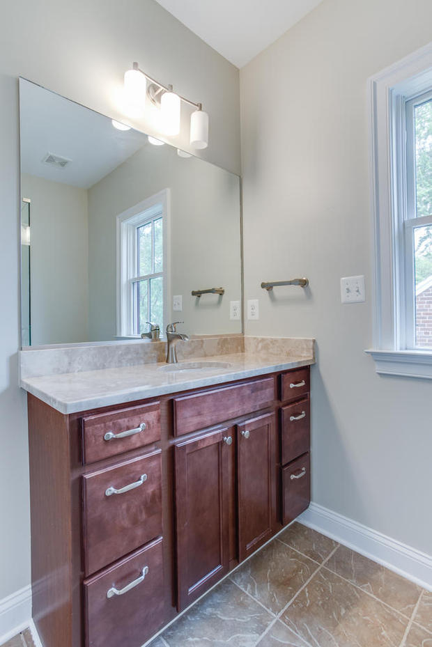 Contemporary Bathroom In Alexandria Under Mount Sink White Trim By Classic Cottages Llc