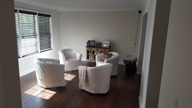 Transitional Family Room In DUNDALK Tan Wall Paint