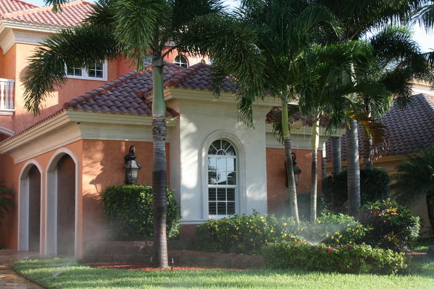 Mediterranean Home Exterior In Cape Coral Stucco Exterior Tile Roof By Top Stucco Stone Inc