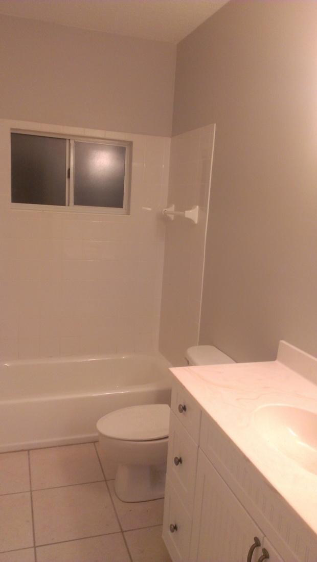 Casual / Comfortable Bathroom in Jupiter - solid surface vanity ...