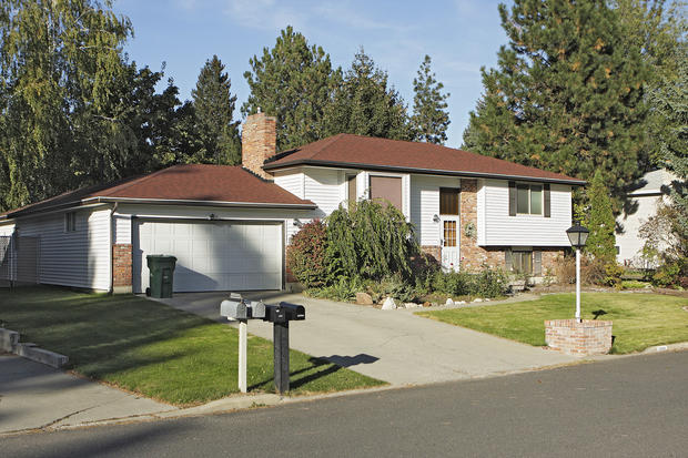 Mid-Century Modern Home Exterior in Spokane - brick chimney ...