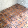 Mediterranean Patio with terra cotta red clay tile flooring