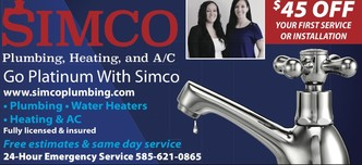 Simco Plumbing Heating Amp A C Llc Rochester Ny 14612