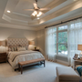 Modern Bedroom with upholstered headboard