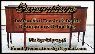 Generations Antique Furniture Refinishing, Restoration U0026 Repair