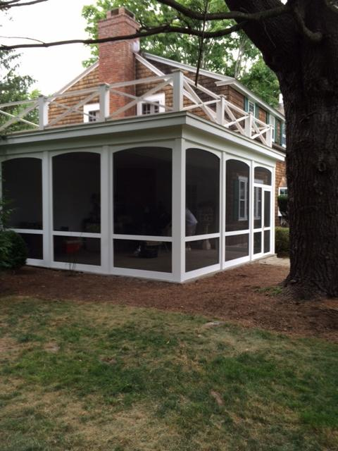 Cape Cod Porch In Port Chester Whtie Trim Porch