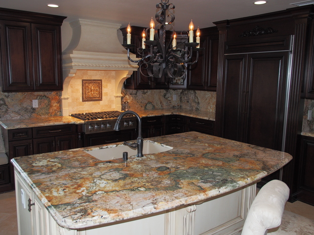 French Country Kitchen In Mission Viejo Gas Cooktop Parsons Chair By New