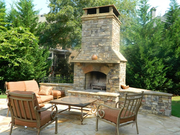 Tuscan Fireplace In Roswell Sandstone Mantel Gold