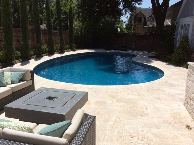 Traditional Pool In Dallas Tan Tile Pool Patio Pool By America 39 S Swimming Pool Co Of Dallas