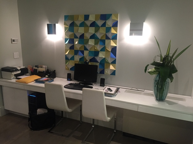 modern home office in hawthorne by geowood design inc