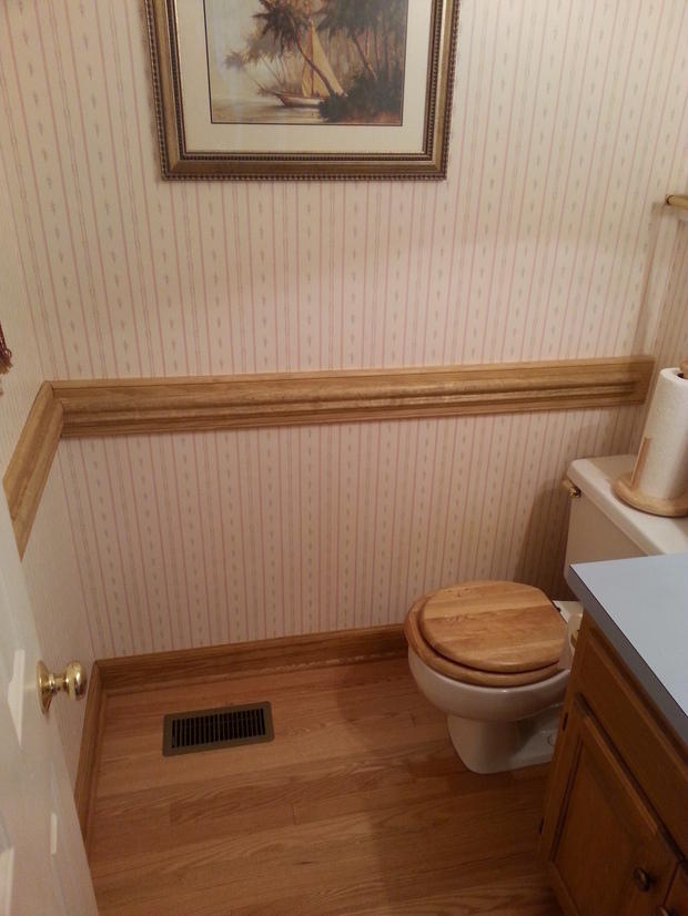 Traditional Bathroom In Durham Wood Floor Two Piece Toilet By Carella Construction