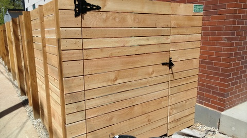 Modern Landscape with horizontal plank fence