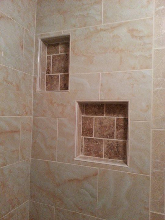 Traditional Bathroom In San Antonio Beige Tiled Shower Wall Tiled Shower Niches By R M