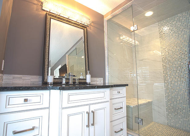 Traditional Bathroom In Hamilton Walk In Shower Framed