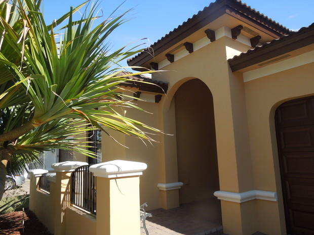 Southwestern Home Exterior In Miami Wall Trim Barrel Terra Cotta Roof Tile By Certapro