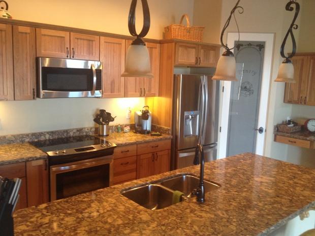 rustic kitchen in chandler brushed brass faucet wrought. Black Bedroom Furniture Sets. Home Design Ideas