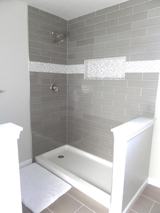 Contemporary bathroom in mckinney wall mount shower head for Bathroom remodel mckinney
