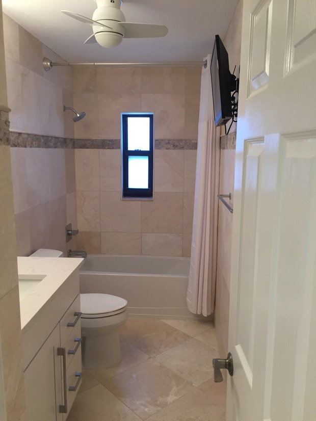 Casual comfortable bathroom in fort myers wall mounted for Bath remodel fort myers
