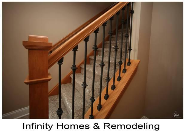 Arts Crafts Staircase In Massillon Iron Baluster Rails