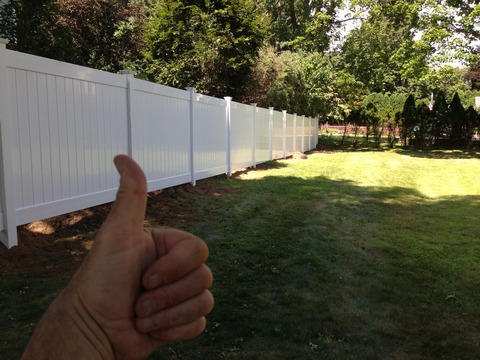 Modern Landscape with white fence panels