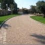 Traditional Driveway with chip seal pavement surface