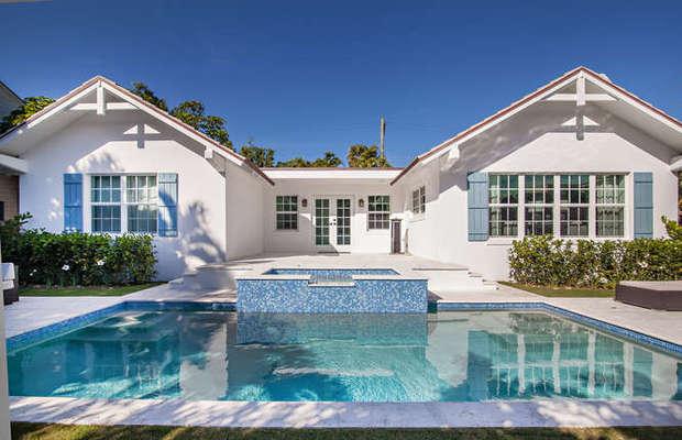 Mediterranean Pool In West Palm Beach In Ground Pool Windowed Exterior Door By The Protinus