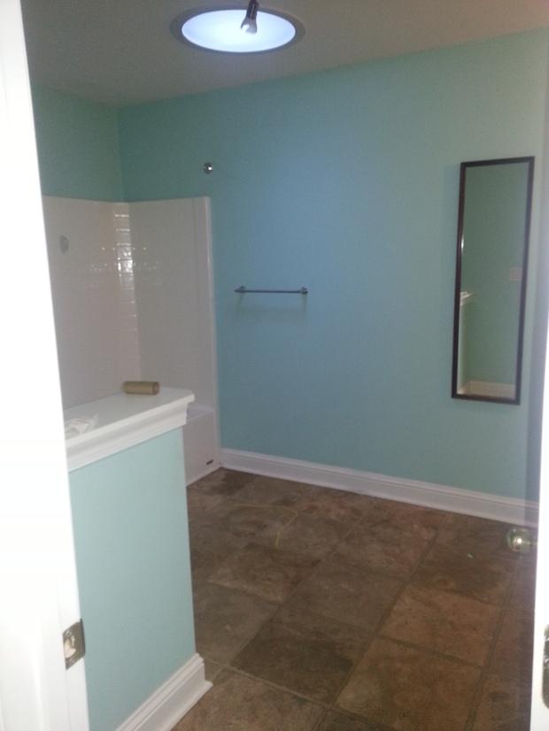 Transitional Bathroom In Fayettevile White Trim Pony