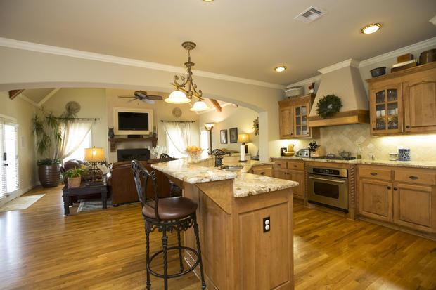 Traditional kitchen in tulsa glazed cabinetry light for Kitchen ideas tulsa oklahoma