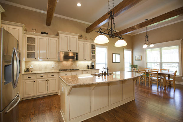 kitchen in tulsa vaulted ceiling oil rubbed bronze