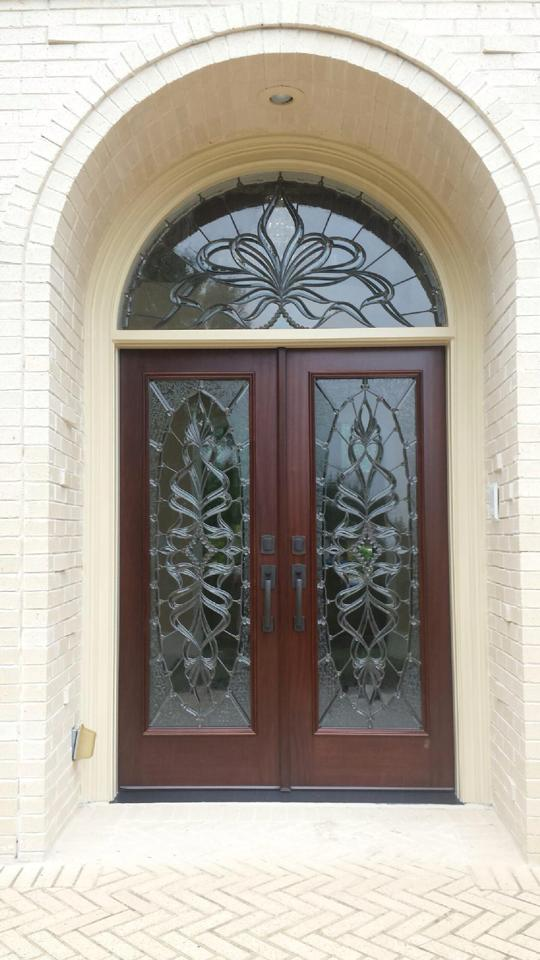 english country porch in buford cut glass door inserts