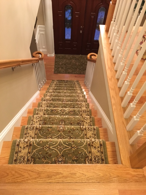 English Staircase In Fitchburg White Wood Turned
