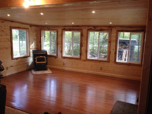 Rustic Sunroom In Rosemount Dark Wood Floor Rustic Wood