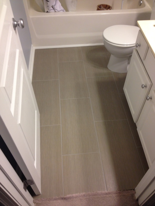 Transitional Bathroom In Raleigh Raised Panel Cabinet