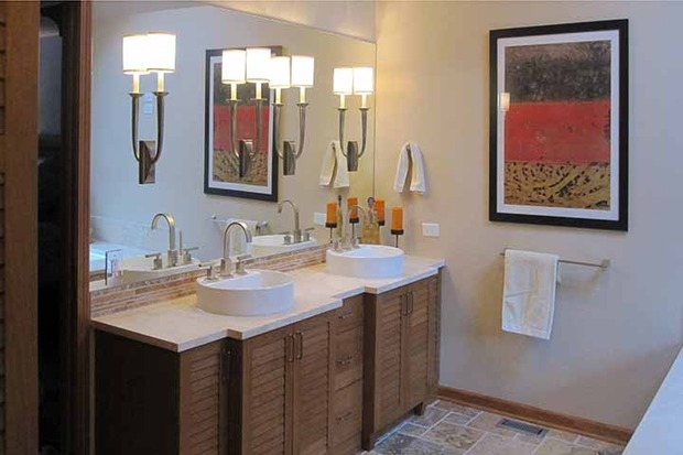 Contemporary Bathroom In Naperville Tile Floor Wall Art
