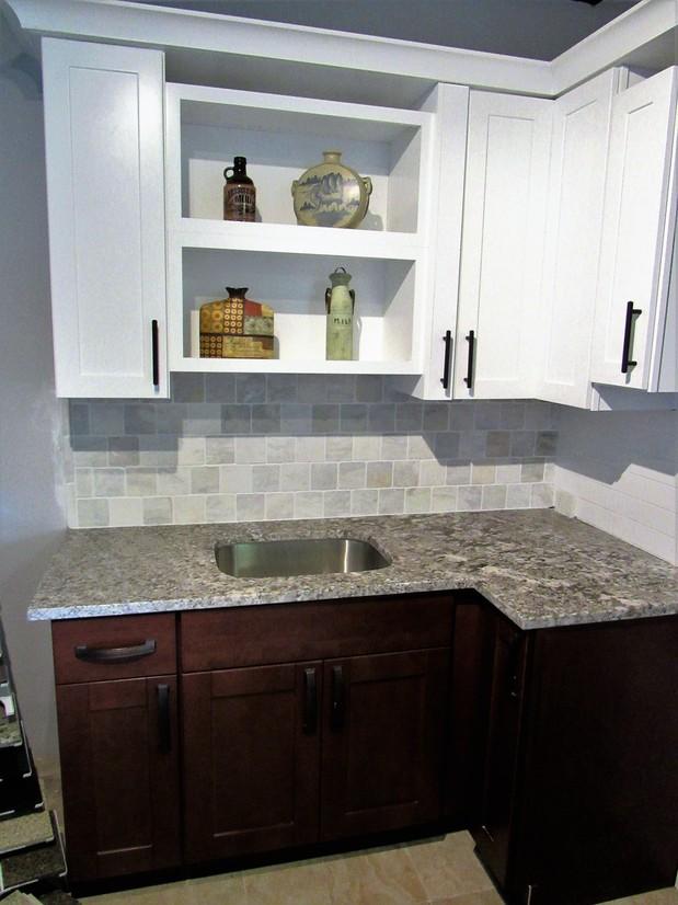 Transitional Kitchen In Vero Beach Bar Pulls Undermount Prep Sink