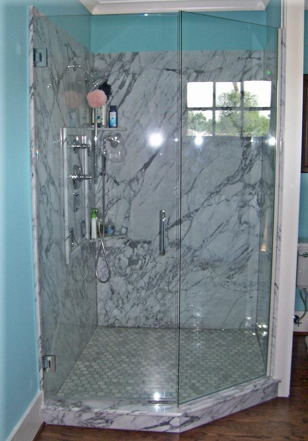 Contemporary Bathroom In Newcastle Walk In Shower Blue