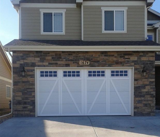 Transitional Garage In Fort Collins Beige Exterior Paint