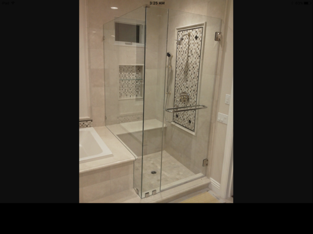 Contemporary Bathroom In West Palm Beach White Trim Glass Shower Door By Arp Aluminum Glass