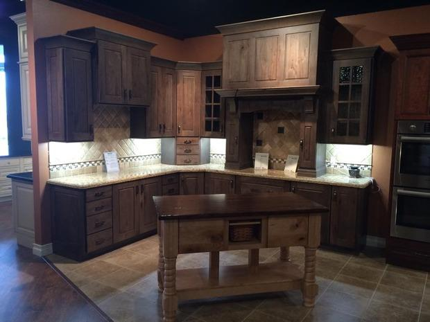 Shaker Kitchen In Woodlands Custom Island Wood Top