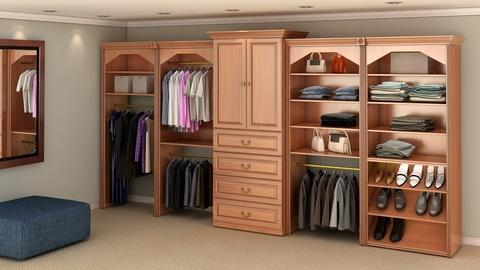 Traditional Closet with master bedroom closet interior